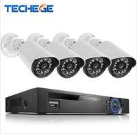 al por mayor cámara ip poe sistema nvr hd-Techege 4CH PoE 1080P Sistema de CCTV NVR 2.0MP de cámara IP al aire libre HD 1080P NVR Recorder Sistema de vigilancia de cámara de seguridad de vídeo