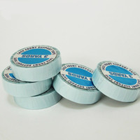 Wholesale 2 Rolls cm yard Blue Color Super Quality Hair Extension Tape Double Sided Adhesive Tape for PU Skin Weft Tape Hair Extensions