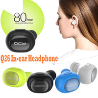 Wholesale QCY Q26 Mini Bluetooth Headset Wireless Bluetooth Earphone Earbuds Sport Driving Music Stereo Earphone for iPhone Samsung Xiaomi