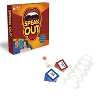 Wholesale 2017 hot Speak Out Game cards toys Board Game Interesting Party and Family Games best Christmas gifts