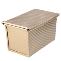 baking pan with lid - Stable Bread Molds Non stick Golden Loaf Pans Bakeware Baking Cake Tools Toast Boxes with Lids