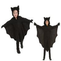 batman wings - 2016 Batman Clothes Movie Stars Super Hero Cosplay Children s Halloween Masquerade Costumes Black Hooded Leotard With Wings And Gloves