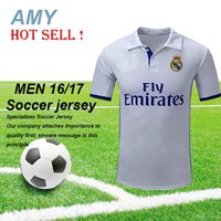 Wholesale DHL Madrid away black Soccer Jersey RONALDO home white football jerseys JAMES BALE BENZEMA MODRIC top thai quality sports shirts