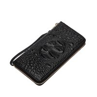 Wholesale Fancychic autumn and winter new ladies hand bag leather fashion Evening Bags crocodile embossed long leather wallet