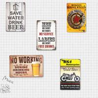 antique tavern - Tin Signs Beer Motor Car Hanging Poster Bar Wall Plaque Art Bar Pub Tavern Wall Decor