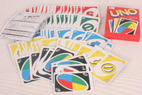 Wholesale Entertainment Card Games UNO cards Fun Poker Playing Cards Family Funny Board Games Standard DHL Free