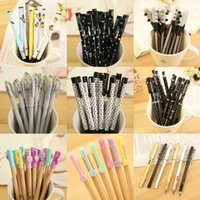 Wholesale Korean cute gel pen Office signature neutral student stationery Prize set mixed color