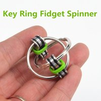 Wholesale Key ring metal gyro toy fidget spinner toy Professional EDC stress release toy VS Hand Spinner fidget chain DHL shipping