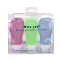 Wholesale Smart squeezable travel tube Silicone Food grade shampoo Cream Skin care Sub bottle Business outdoor traveling supplies ml ml ml
