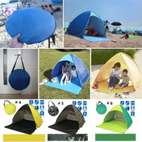 Wholesale Summer Beach Tents Quick Automatic Opening UV Protection Outdoor Gear Camping Shelters Tent Travel Lawn Multicolor DHL Fedex