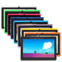 7 inch tablet venda por atacado-Q88 7 polegadas Android 4.4 Tablet PC ALLwinner A33 Quade Core Câmera dupla 8GB 512MB comprimidos baratos capacitivos