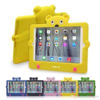 apple ipad shapes - 2016 Kids Cute Cartoon Shockproof Case For ipad mini Little Bear Shape Environmental Silicone Protective Tablet Case For Ipad mini