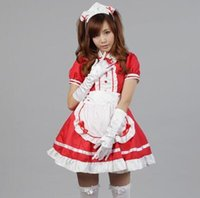 Wholesale New Sexy French Maid Costume Sweet Gothic Lolita Dress Anime Cosplay Sissy Maid Uniform Plus Size Halloween Costumes For Women