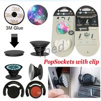 Wholesale PopSockets with POP Clip Expanding Stand Grip for Tablets Stand Bracket Phone Holder Pop Sockets car monut for iphone samsung Cheapest pc