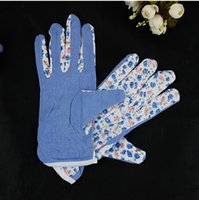 Защитные перчатки для сада Мода перчатка 100% хлопок противоскользящие Личная Безопасность на рабочем месте Мягкая Джерси Женщины Садовые перчатки WA1492