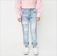 big girl jeans - Spring Big Baby Girls Denim Pants Junior Wash Blue Hallow Out Fashion Jeans Teenager casual Clothing