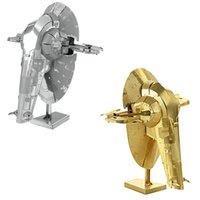 Wholesale Star Wars D Metal Puzzles Laser Cut Jigsaws DIY Metal Model Building Educational Toy Boba Fett Slave I