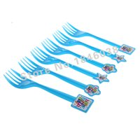 beautiful fork - pack Happy birthday Theme Party Plastic Fork Birthday Festival Party Decoration Supplies Beautiful party supplies