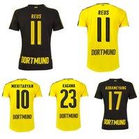 Wholesale Thai quality Borussia Dortmund Jersey AUBAMEYANG KAGAWA shirt REUS GOTZE camisetas de futbol