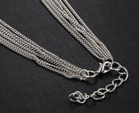 Wholesale Foreign trade fashion joker linear tassel long sweater necklace pendant decorative pendant crystal fashion accessories for women