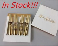Wholesale Christmas Stockings Wholesale Prices - In Stock!! Factory Price Christmas Arrival KOKO KOLLECTION gold birthday limited makeup 4pcs set KYLIE Liquid matte lipstick Kollection