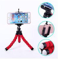 Wholesale For Iphone S Plus Gorrila Tripods Universal Octopus Sponge Flexible MINI Tripod Digital Camera Holder Mount Clip For Canon Stand Mount