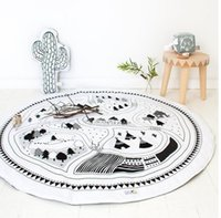Wholesale Children Soft Round Game Mats Kids Cotton Crawling Blanket Play Game Indoor Outdoor Mat Baby Room Decoration Round Game Carpet blanket