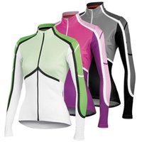 Wholesale 2016 Cycling Jerseys Long Sleeve Casteli Women Bicycle Clothing White Pink Black High Elastic Road MTB Ropa Ciclismo Winter Autumn Styles
