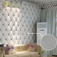 Wholesale faux leather soft bag d wallpaper PVC white bedside sofa tv background wall wallpaper papel de parede R161