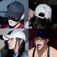 Wholesale Chic Peaked cap Iron hoop or with hole or safety pin baseball cap adjustable HIP HOP cap