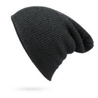 Wholesale 2016 new arrival hot selling fashion autumn winter hat women men unisex cap knit wool solid Beanie Stripe drop needle warm casual