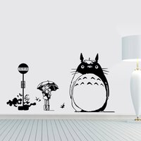 Wholesale Japanese Cartoon Totoro Wall Sticker My Neighbor Totoro PVC Wall Decals Kid s Room Home Decoration Removable Decors for Bedroom