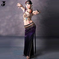 Cheap Tribal Belly Dance Costumes Set Bra&Waist Belt&Pants Stage Wear Performance Costume Clothing For Belly Dancing Danse Tribale
