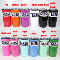 Wholesale Yeti oz Cups Cooler YETI Rambler Tumbler Travel Vehicle Beer Mug Double Wall Bilayer Vacuum Insulated