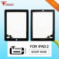 Asamblea del botón del panel del digitizador + Home del panel de Digitaces de la pantalla táctil delantera blanca negra de la alta calidad AAA para el iPad 2 3 4