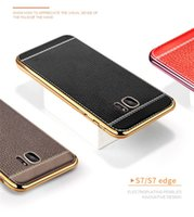 Wholesale Case For Samsung Galaxy S8 plus S6 S7 Edge Luxury Litchi Grain Painting Soft PU Leather TPU Back Case Cover For Apple Iphone S Samsung S8