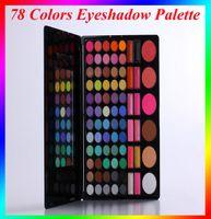 beauty max - 78 Colors Eyeshadow Palette Makeup Powder Cosmetic Brush Kit Box With Mirror Women Beauty Tools Set VS MAX Dona Eyeshadow