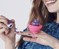 arte free - Nail Wearable Bottle Holder polacco Finger molle del silicone con anello di Creative Nail attrezzi di arte della vernice del polac DHL free