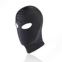 New Head Harness Leather Mask Hood Bondage Blindfold BDSM Bondage Restraint Eye Hollow Head Cover Harnais Kinky Sex Toys Pour Couples