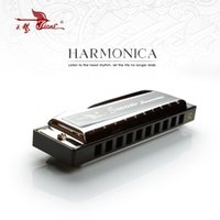 Vente en gros - 10 trous C Key Swan Diatonic Blues Harmonica Mouthorgan Harp Mouth Organ