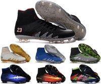 Wholesale Mens knee high boots Ronaldo shoes youth soccer cleats superflys cr7 football boots high ankle men shoes magista obra fg soccer shoe sneaker