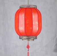 Wholesale Chinese style led light pendant lantern for teahouse dining room hallway parchment lantern for festivals celebration wedding