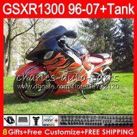 achat en gros de 98 gsxr carénage orange noir-8Gifts 23Colors pour SUZUKI Hayabusa Orange noir GSXR1300 96 97 98 99 00 01 15HM14 GSXR 1300 GSX R1300 GSXR-1300 02 03 04 05 06 07 Carénage
