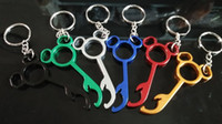 Wholesale Useful Lovely Metal mickey Shaped Wine Bear Bottle Opener Ring Keychain Key Chain Lovely Cooking Tool Gizmos Beautiful