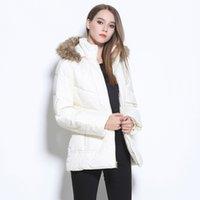 Wholesale The new winter pure white beautiful noble temperament big yards down jacket Cost effective good and inexpensive