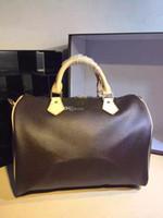Wholesale With Strap Women Famous Brand Canvas real leather Handbags Designer Shoulder Boston Bag
