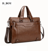 Wholesale New Fashion Leather inch Laptop Bags Hot Crossbody Messenger Bags Leather Office Bags for Men Document Briefcase Travel Bags DB BA001