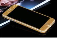 Wholesale Full Body Shiny Glitter Bling Diamond Film Matte Skin Sticker For iphone7 plus S SE S i6 plus S6 Samsung S7 EDGE S6 NOTE5