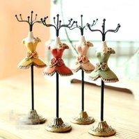 Wholesale The beautiful princess Earrings necklace rack shelf jewelry hanging ornaments resin creative arts and crafts color set