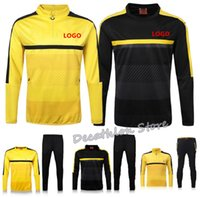 Wholesale 2016 Dortmund Training Suits Chandal Dortmund Maillot De Foot Survetement Football Soccer Tracksuit longe Sleeves soccer training pants